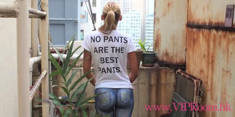 no pants are the best pants : bodypaint sexy à hong-kong