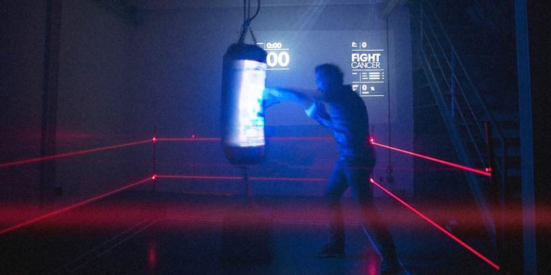 punching ball interactif cancer