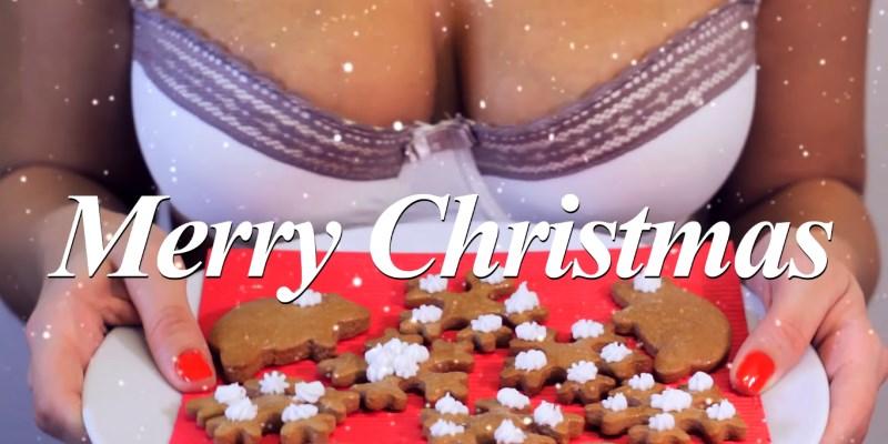 cuisinière sexy seins boobs : biscuit pain d'épice de Noël
