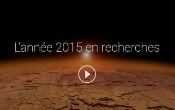 L'année 2015 en recherche Google dans une vidéo émouvante