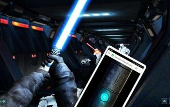 lightsaber escape : le jeu-video star wars qui tranforme votre smartphone en sabre laser
