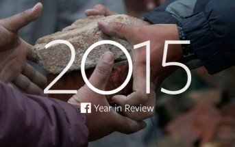 Rétrospective de l'année 2015 par Facebook