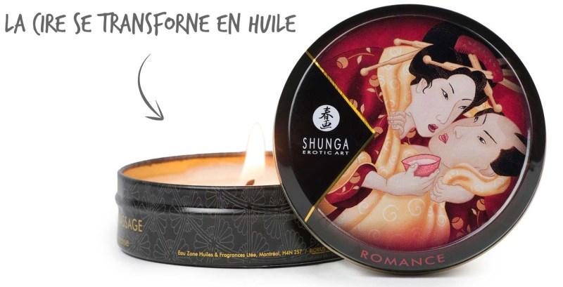 La bougie de massage de Shunga
