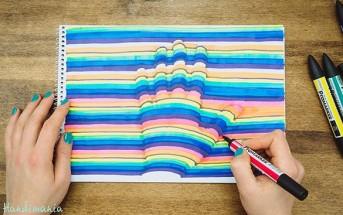 Elle fait le contour de sa main sur un papier et le résultat est magnifique