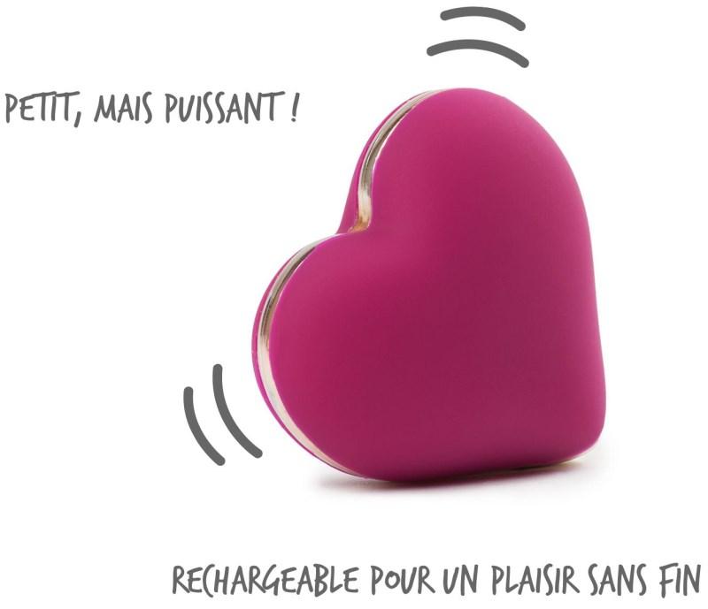 Le sextoy vibromasseur externe Heart Vibe de Rianne-S