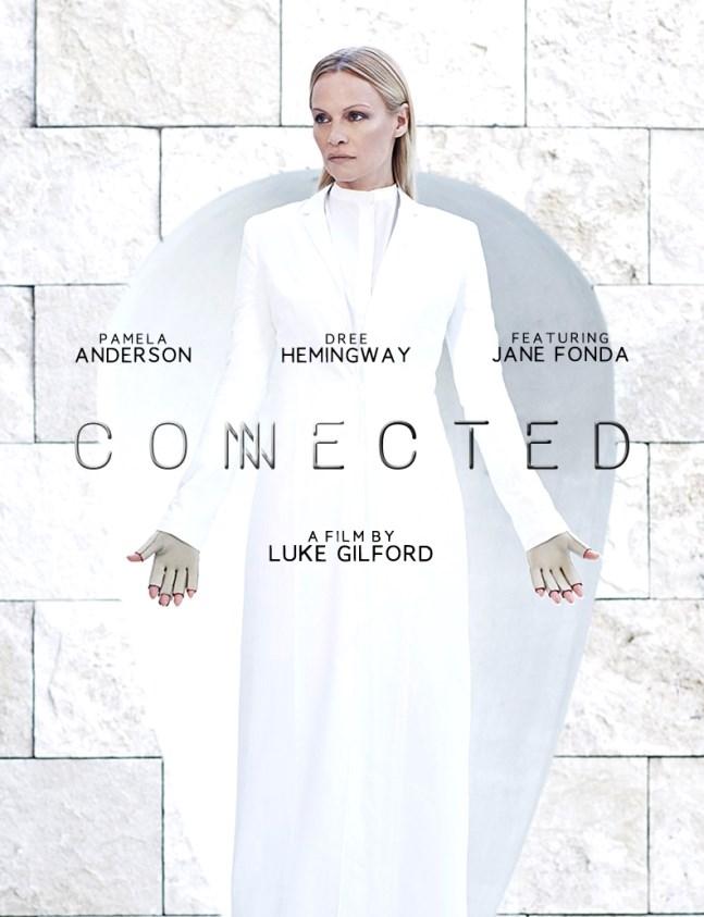 Affiche du court-métrage'connected' de Luc Gilford avec Pamela Anderson