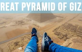 Il escalade la pyramide de Khéops à Gizeh et se filme en GoPro
