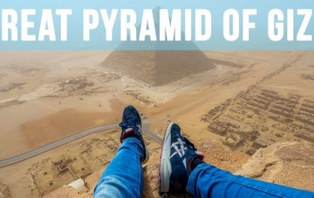 Climbing the Great Pyramid of Giza