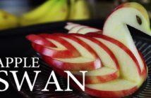 pple Swan : le cygne fait en découpant une pomme