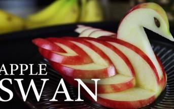 Il coupe une pomme à la diagonale et le résultat est absolument brillant!