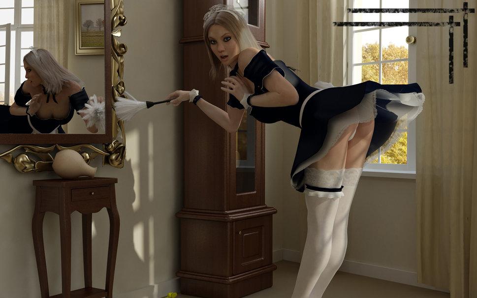 femme-de-menage-soubrette-sexy
