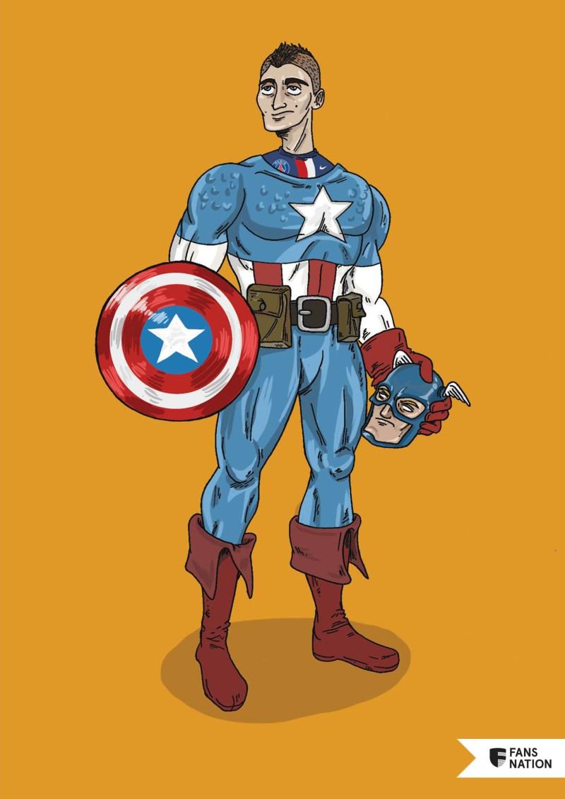 Les Invincibles du PSG : Marco Verratti / Captain America