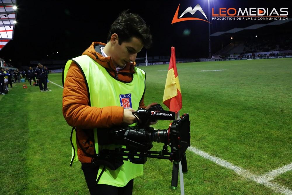 Léo Pons en tournage au Stade Aurillacois Cantal Auvergne