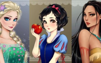 Les princesses Disney dessinées en version Manga