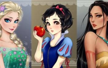 Les princesses Disney version manga par Maryam Safdar (Mari945)