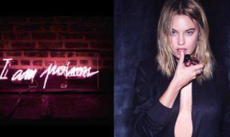 pub du parfum poison girl de Dior (2016) avec l'actrice / mannequin Camille Rowe