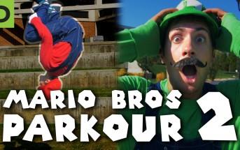 Freerun : Super Mario et Luigi font du parkour dans la vraie vie