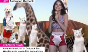 Weather Girls - Emily Ratajkowski reports from the Australian Outback - LOVE