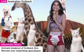Emily Ratajkowski joue la miss météo WTF de l'outback australien