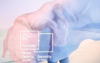 Les couleurs Pantone 2016 : rose quartz & serenity