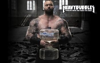 Heavy Bubbles : bouteille d' eau en forme d'haltere