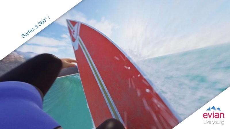appli evian baby surf