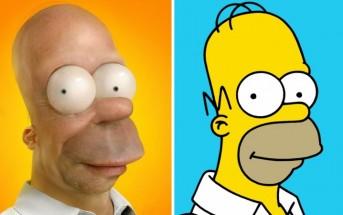 Les personnages des Simpson en version 3D réaliste