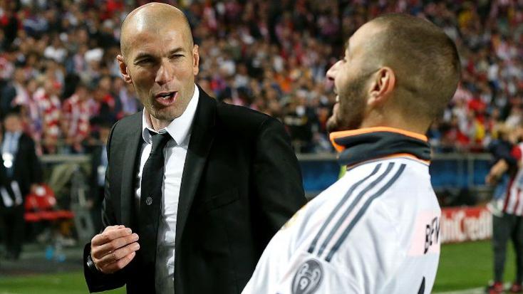 Karim Benzema avec Zidane