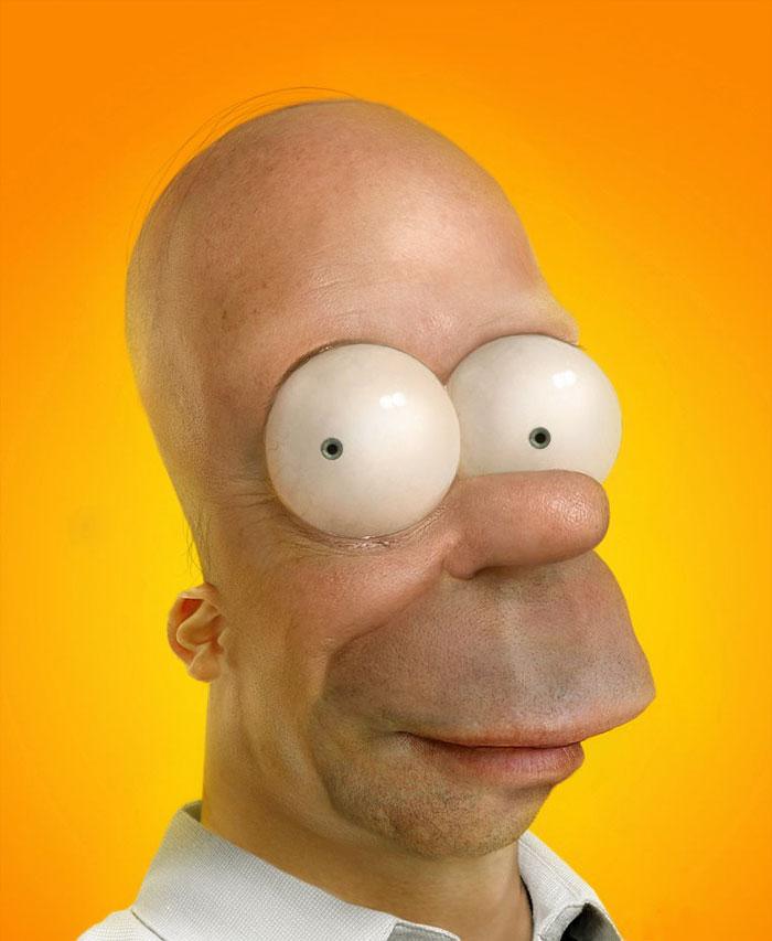 Homer Simpson en 3D réaliste (par Pixeloo)