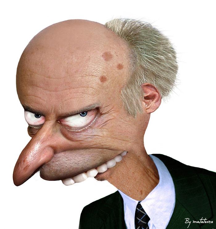 M. Burns en 3D réaliste (par Mataleone)