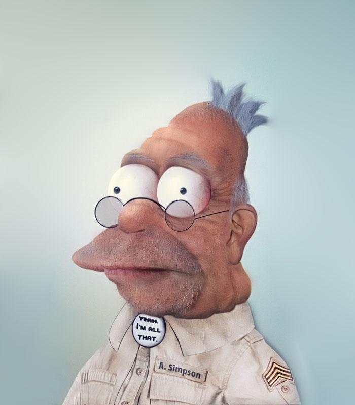 Abraham J. Simpson (Grand-papa) en 3D réaliste (par