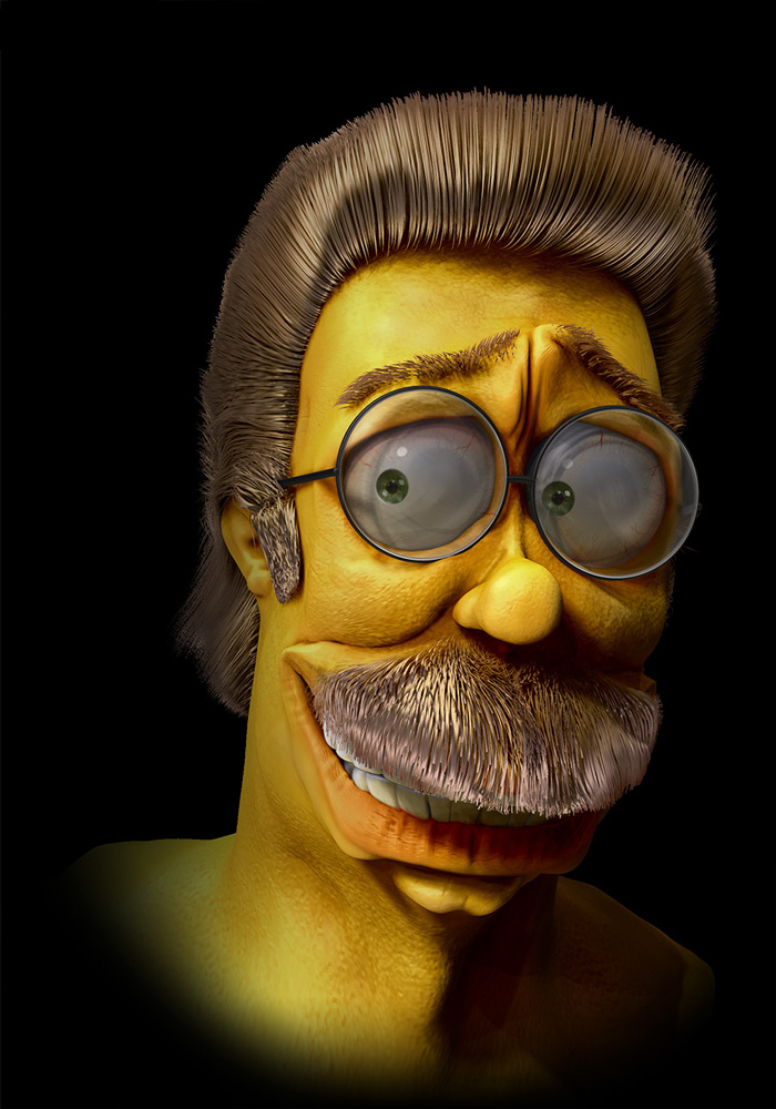 Ned Flanders en 3D réaliste