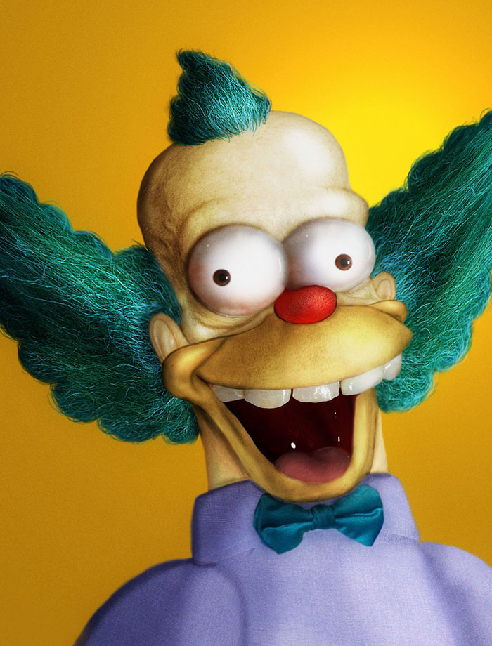 Krusty le clown en 3D réaliste