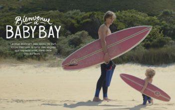"""Pub Evian 2016 """"Baby Bay"""" avec des bébés surfeurs"""