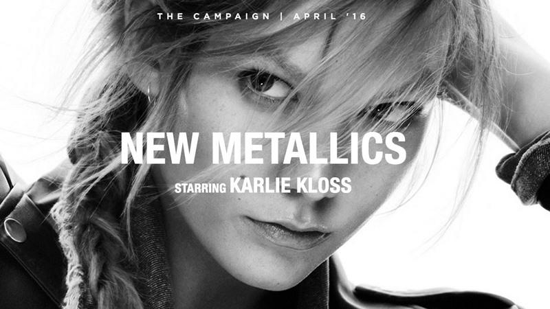 Karlie Kloss dans la pub pub Mango 2016'New Metallics'