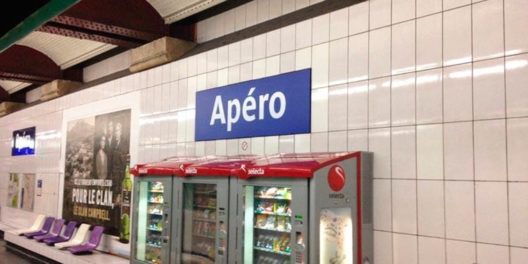 La ratp renomme la station de métro Opéra en Apéro pour le 1er avril 2016
