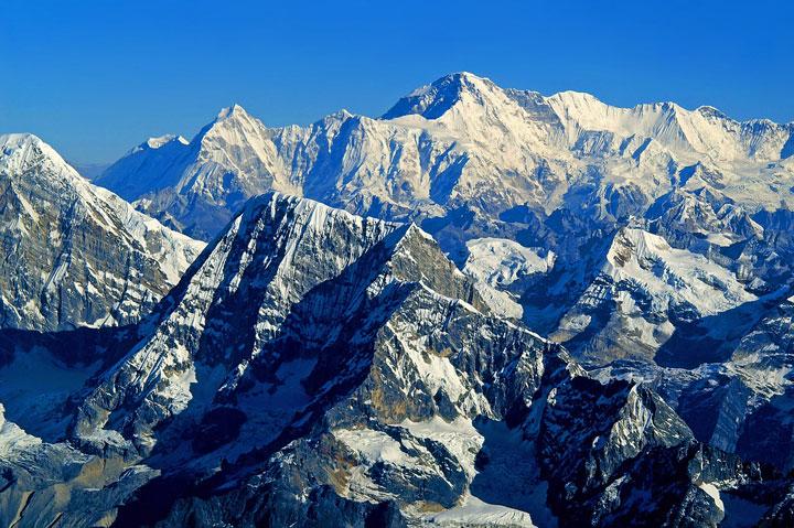 La chaîne de montagnes de l'Himalaya