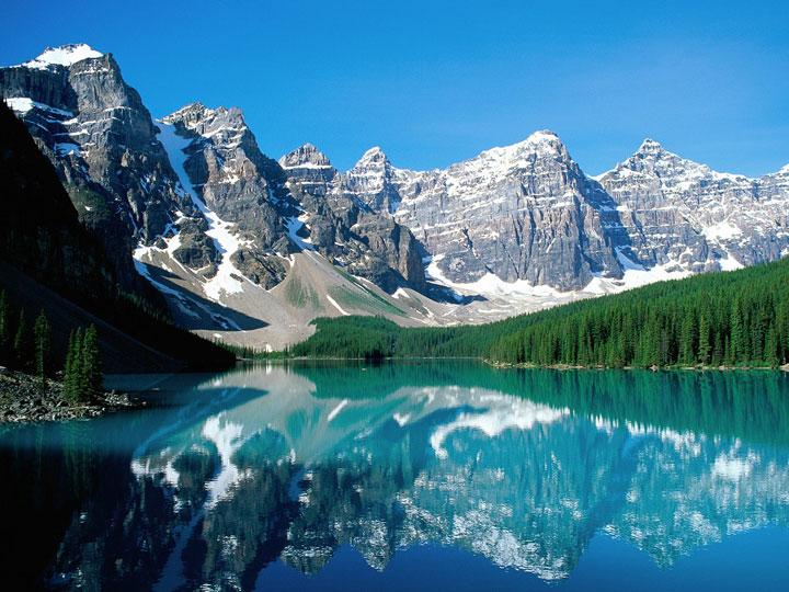 Le lac Moraine, Alberta, Canada