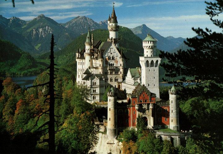 Le château de Neuschwanstein en Bavière, Allemange