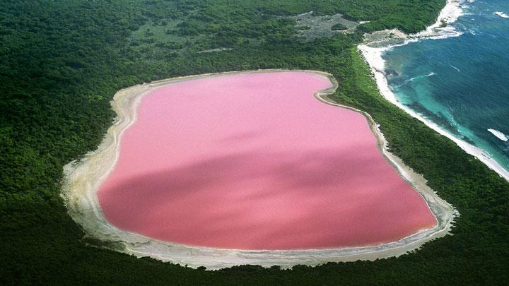 Le lac Hillier (ou lac rose), Australie