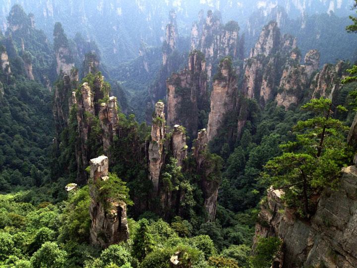 La forêt de pierre d'Hunan, Chine