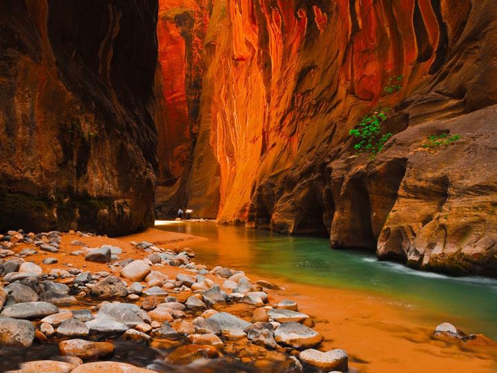 Le parc national Zion dans l'Utah, Etats-Unis
