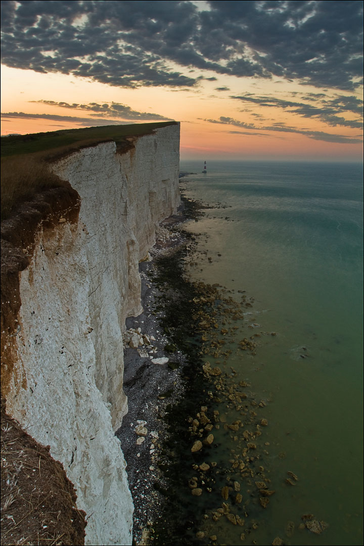Cap Béveziers dans la région du Sussex, Angleterre