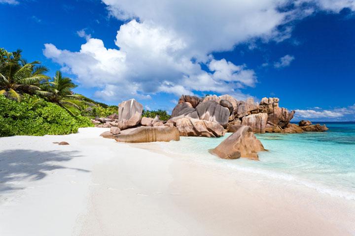 Les plages paradisiaques de l'île de La Digue, Seychelles
