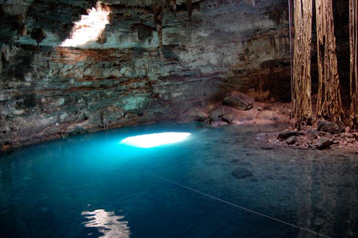 Les ruines sacrées dans la péninsule du Yucatan, Mexique