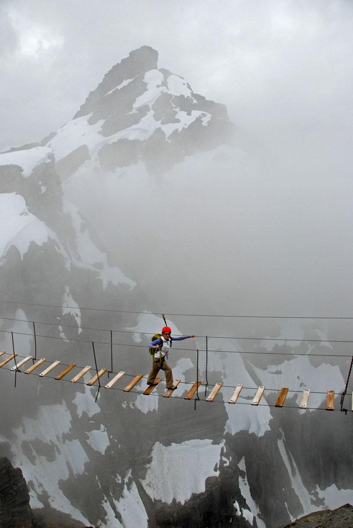 Le passage suspendu du Mont Nimbus, Canada