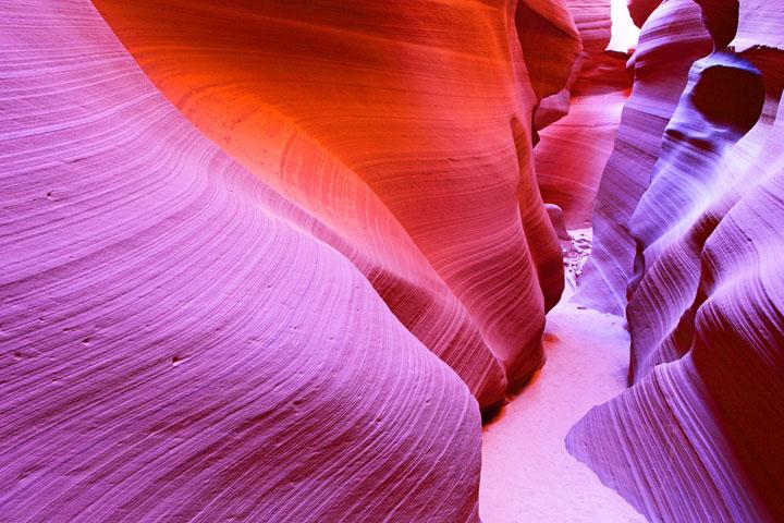 L'Antelope Canyon dans l'Arizona, Etats-Unis