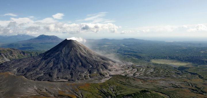 Volcan de Kamčatka, Russie