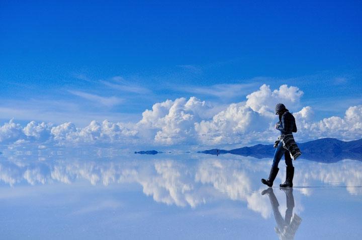 Le désert de sel de d'Uyuni, Bolivie