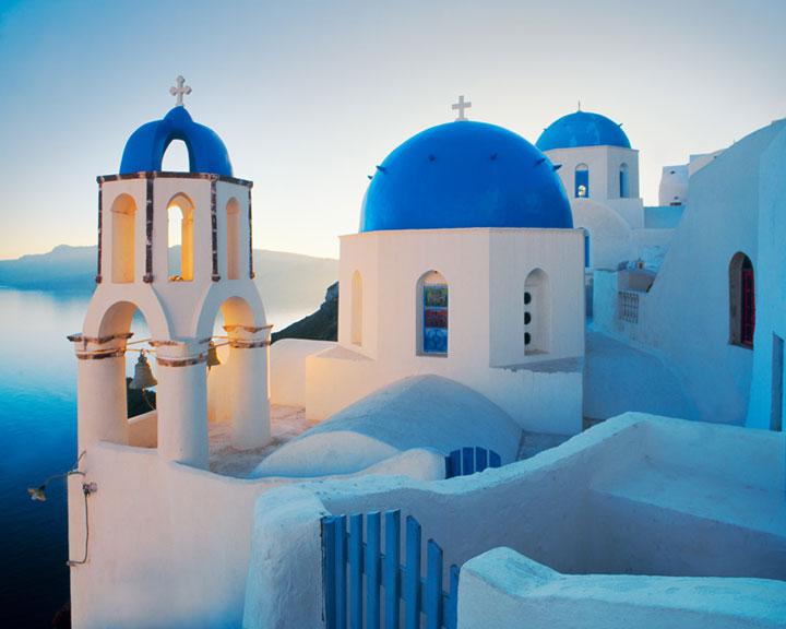 L'île de Santorin, Grèce